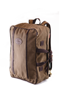 The Frost River Voyageur Backpack Luggage is sized for travel, whether that's making moves with planes, trains and automobiles, or paddling, biking, hiking or climbing. This pack is designed for versatility on the long haul. Lash Squares on three sides and daisy chains on the front and shoulder straps, plus brass dees for storable straps and an optional shoulder strap give you options.