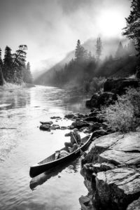 Paddling the Blackfoot River in Montana on the Frost River Made in USA Road Trip. Photo by Alex Messenger.
