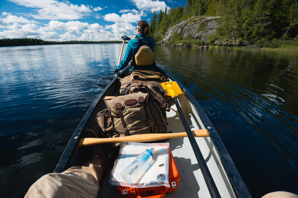 Paddling out of the Boundary Waters after a short but sweet 48 hour weekend trip in September. Photo by Alex Messenger.