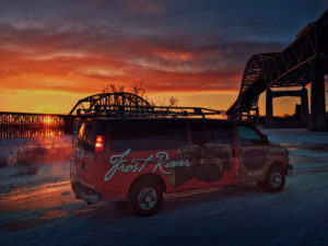 The Frost River Van headed out to 2017 Winter OR Show